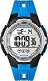 Timex Unisex Quartz Watch with LCD Dial Digital Display and Blue Resin Strap TW5M06900