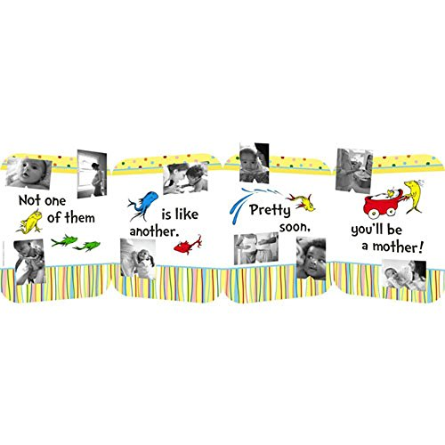 Dr Seuss Baby Shower (Dr. Seuss Baby Shower 'One Fish Two Fish' Photo Centerpiece (1ct))