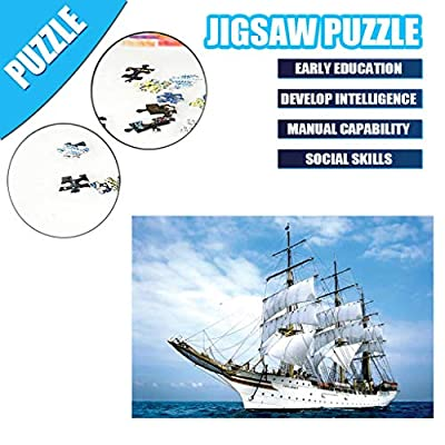Sunday88-1000 Pieces Jigsaw Puzzles Set for Adults - Navy Sailing Ship: Arts, Crafts & Sewing