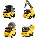 Construction Truck Beach Sand Toys Set 4 Styles Take Apart Toy with Tools Summer Beach Learning Toy, Building Vehicle Play, Truck Toys, Assembly Toy, Early Educational Toy