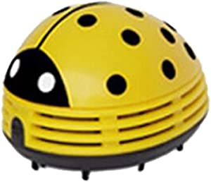 Atezch Mini Vacuum Cleaner Cute Beetles Corner Portable Handheld Desktop Table Dust Vacuum Micro Cleaner Sweepers Cleaning