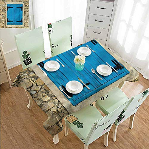 SLLART Rectangle Tablecloth Vinyl Country,Antique Old for sale  Delivered anywhere in Canada