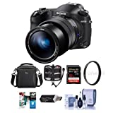 Sony Cyber-Shot DSC-RX10 IV Digital Camera, Black - Bundle With Camera Case, 32GB SDHC U3 Card, 72mm UV Filter, Memory Wallet, Card Reader, Cleaning Kit, Software Package