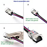 QIJIE 5050 RGB LED Strip Connector 4 Pin for