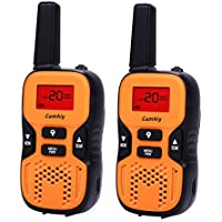 Camkiy Rechargeable Walkie Talkies for Kids 2 Way Radio 22 Channel FRS/GMRS 2 miles (up to 3.7 Miles) UHF Handheld Walkie Talkies for Children Students