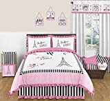 Sweet Jojo Designs Black and White Stripe Fabric