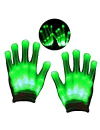 DIMY LED Colorful Flashing Finger Lighting Rave Gloves - Best Gifts