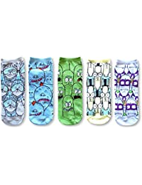Mr. Meseeks Noob Noob Pickle Rick 5 Pack Ankle Socks