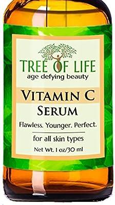 ToLB Vitamin C Serum for Face with Hyaluronic Acid - Anti Aging Anti Wrinkle Facial Serum with Natural Ingredients - Paraben Free, Vegan - Best Vitamin C with Hyaluronic Acid Serum for Skin