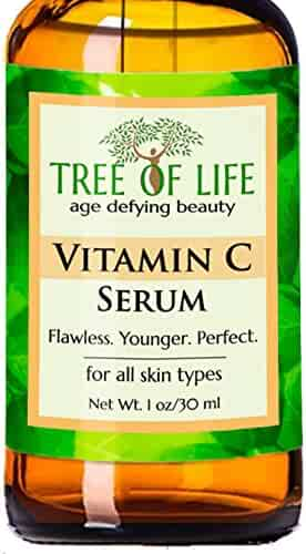 ToLB Vitamin C Serum for Face with Hyaluronic Acid - Anti Aging Anti Wrinkle Facial Serum with Natural Ingredients - Paraben Free, Vegan - Best Vitamin C with Hyaluronic Acid Serum for Skin - 1 fl oz
