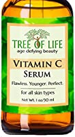 ToLB Vitamin C Serum for Face with Hyaluronic Acid - Anti Aging Anti Wrinkle Facial Serum with Natural Ingredients - Para...
