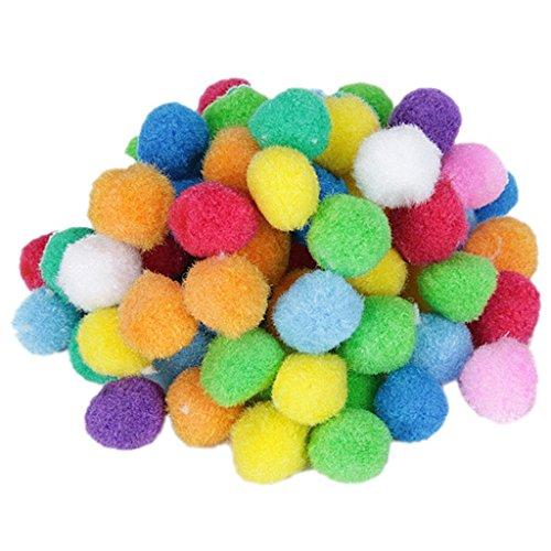Myoffice 可愛い彩るポンポン ふかふか毛玉おもちゃ 女性/児童DIY 手作り雑貨 資材 素材 手芸材料