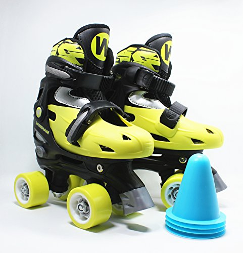 WiiSHAM Fun Roll Adjustable Roller Skates With Four (Fun Roller)