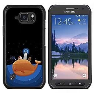 TECHCASE---Cubierta de la caja de protección para la piel dura ** Samsung Galaxy S6 Active G890A ** --Faro de Dibujo de la historieta del océano