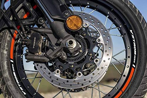 Velgenstickers voor Suzuki V-stroom 1050 Oranje.