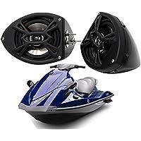 Yamaha Wave Runner Pwc Kicker Package Ks525 5.25Custom Gloss Black Speaker Pods