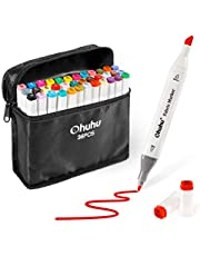 Fabric Markers, Permanent 36 Colors of Ohuhu Dual Tip Fabric Paint Marker Pens for DIY Holiday Costumes, T-Shirt, Clothes, Shoes, Bags, Choice of Art Gifts