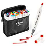 Fabric Markers Permanent 36 Colors of Ohuhu Dual Tip Fabric Paint Marker Pens for DIY Christmas Costumes, T-Shirt, Clothes, Shoes, Bags & Other Fabric Materials, Child Safe, Water-Based Christmas Gift: more info