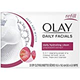 OLAY Daily Facial Hydrating Cleansing Cloths with Grapeseed Extract, Makeup Remover 33 ea (Pack of 7) For Sale