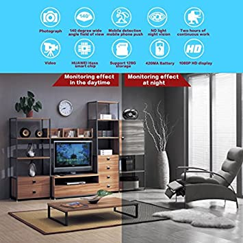 CHUO 1080P HD Mini Hidden Camera Night Vision Motion Detection Security Home Office Car Surveillance Cam