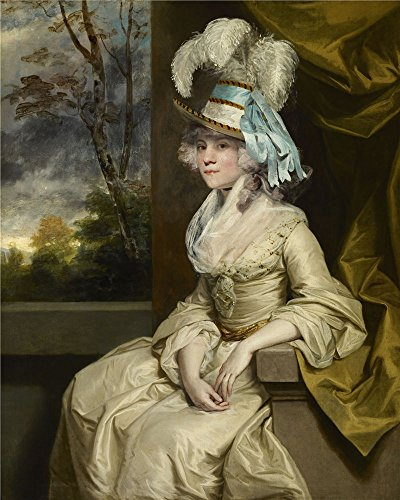 'Sir Joshua Reynolds - Elizabeth, Lady Taylor, C. 1780' Oil Painting, 8x10 Inch / 20x25 Cm ,printed On High Quality Polyster Canvas ,this High Resolution Art Decorative Prints On Canvas Is Perfectly Suitalbe For Bathroom Decoration And Home Artwork And Gifts