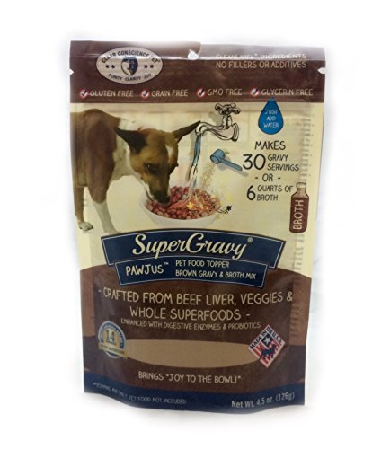 Clear Conscience Pet SuperGravy PAW Jus Pet Food Topper, 4.5 oz