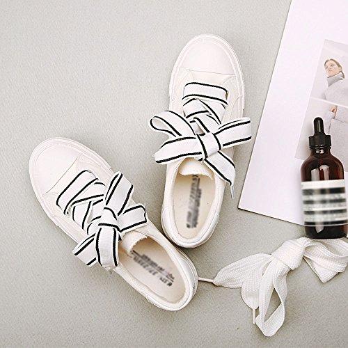 FEIFEI Zapatos de mujer suave lona + Slip resistente al desgaste Parte inferior Verano nuevo sabor sabor versión coreana retro estudiante Street Beat zapatos de lona tres colores para elegir ( Color : Blanco