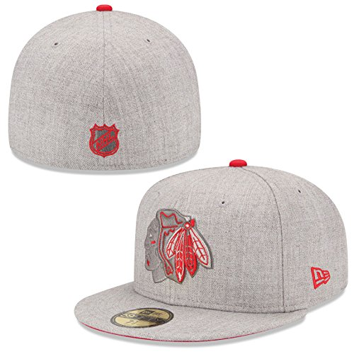 59 50 Fitted Hats (Cap Blackhawks Heather League)