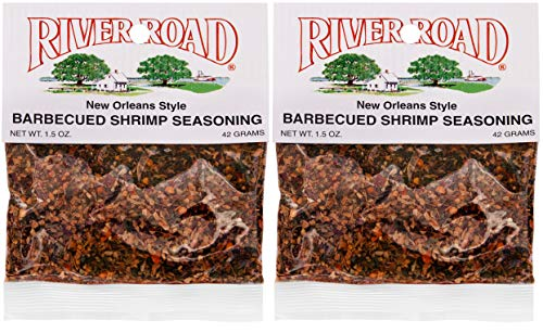 (River Road New Orleans Style Barbecued BBQ Shrimp Seasoning, 1.5 Ounce Bag (Pack of 2) )
