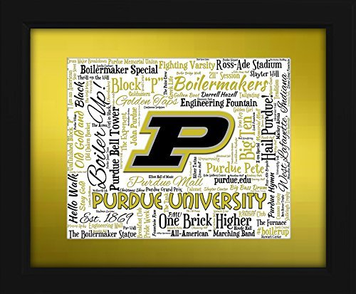 Purdue Boilermakers Framed (Purdue University 16x20 Art Piece - Beautifully matted and framed behind glass)