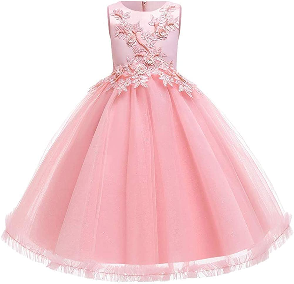 Flower Girl Princess Pageant Wedding Party Formal Birthday Kid Children Dress