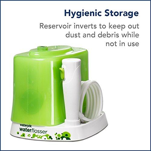 Waterpik Water Flosser for Kids, Countertop Water Flosser for Children and Braces, WP-260, Green