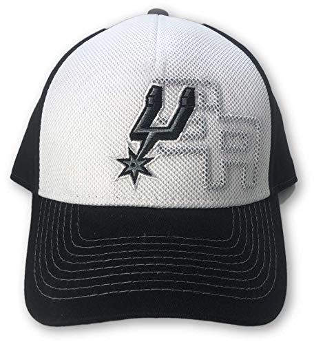 Reebok San Antonio Spurs Structured Adjustable Hat Black (Antonio Spurs Reebok San)