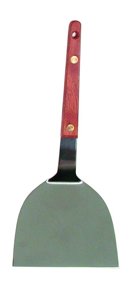 B005V26N1C Update International WTYT-40 Stainless Steel Solid Teppanyaki Turner Wood Handle, 4-Inch 51NQBeFxv2BL