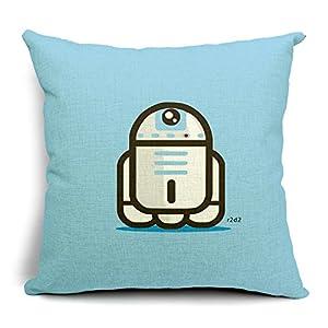 Amazon.com: Chicozy Cotton Linen Square Cute Star Wars Characters Decorative Pillow Cover Cushon ...