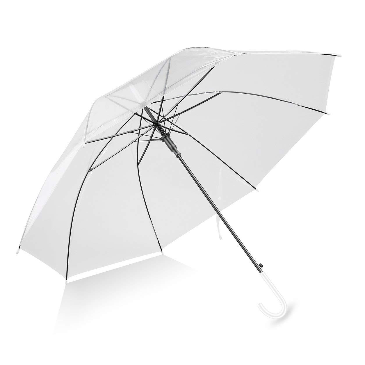 Dailyinshop Ombrello Trasparente,Ombrello Portatile,Ombrello Pieghevole,Modo Dell'Ombrello Parasole Libero Trasparente Automatica per Favore di Cerimonia Nuziale del Partito