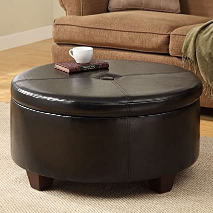 Tremendous Winston Large Round Button Top Storage Ottoman Wood Construction Provides Durability Gmtry Best Dining Table And Chair Ideas Images Gmtryco