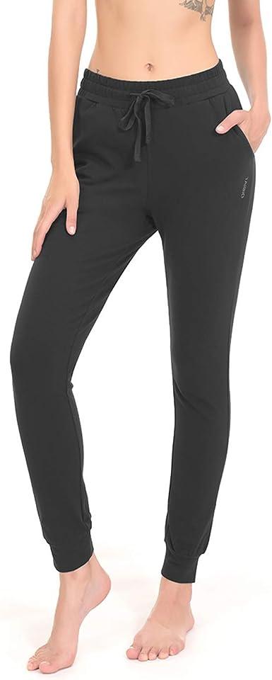 Amazon.com: TAIBID Women's Active Jogger Sweatpants Cotton Workout Lounge  Pants Track Cuff Sweat Pants Pockets: Clothing