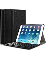 "CoastaCloud Funda para iPad Smart Cover 2017 Funda con Teclado Bluetooth QWERTY Inalámbrico para iPad Air 1/iPad Air 2/iPad Pro 9.7""/iPad 2017 Español Tableta Magnética"