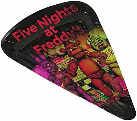 Five Nights at freddys 80007 Forum Novelties FNF Pizza Plates 16 Pack