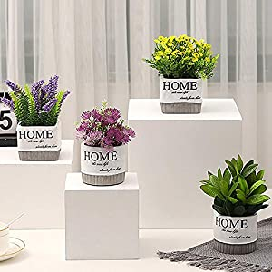 Decorative Potted Plants - Nordic Creative Artificial Flowers With Vase Mini Bonsai Set Potted Fake Flower Home Desktop - Flowers Dried Artificial Artificial Dried Flowers Plant Vase Decor 104