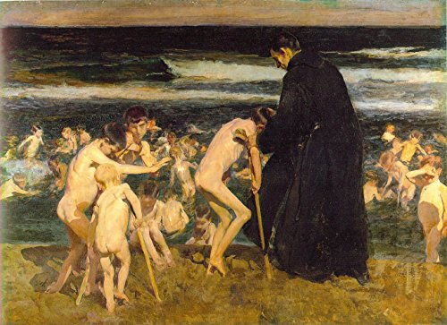 Joaqu?n Sorolla - Sad Inheritance, Gallery wrapped canvas art print wall d?cor