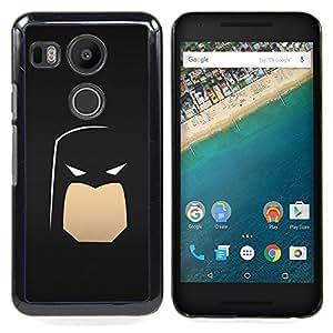 Minimalist Bat Superhero Caja protectora de pl??stico duro Dise?¡Àado King Case For LG Google Nexus 5X