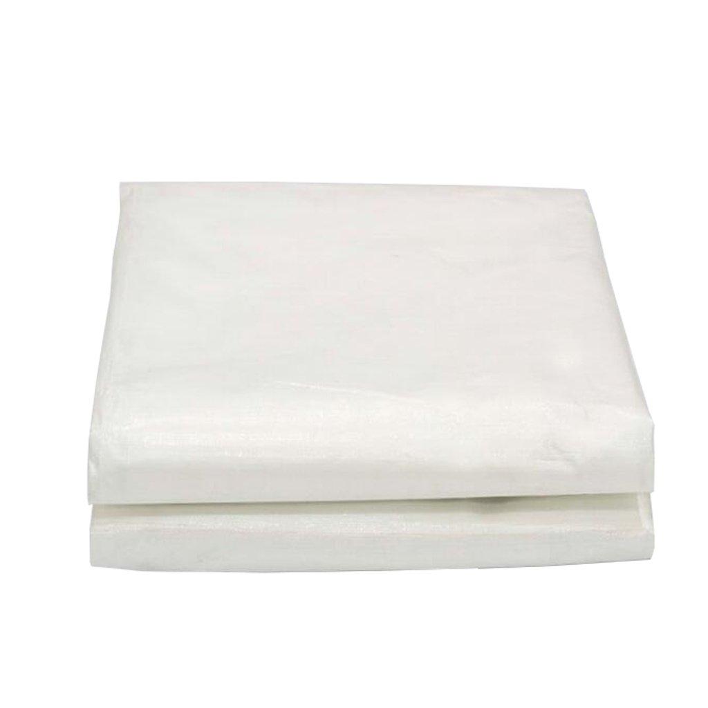 LAXF-Telone Telo Impermeabile Bianco Resistente Tarpaulin Foglio per Campeggio Pesca Giardinaggio, Spessore 0,3 mm, 180 g m² - 100% Impermeabile e UV protetto (Dimensioni   3m×4m)