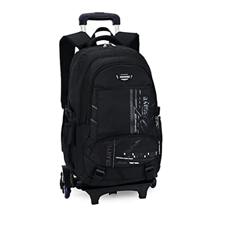 bfe686b8cfdc Asdomo Trolley Backpack Wheeled Hand Luggage Carry On Rolling Backpack  Laptop Rucksack Shoulder Bag Unisex for Girls Boys  Amazon.co.uk  Kitchen    Home