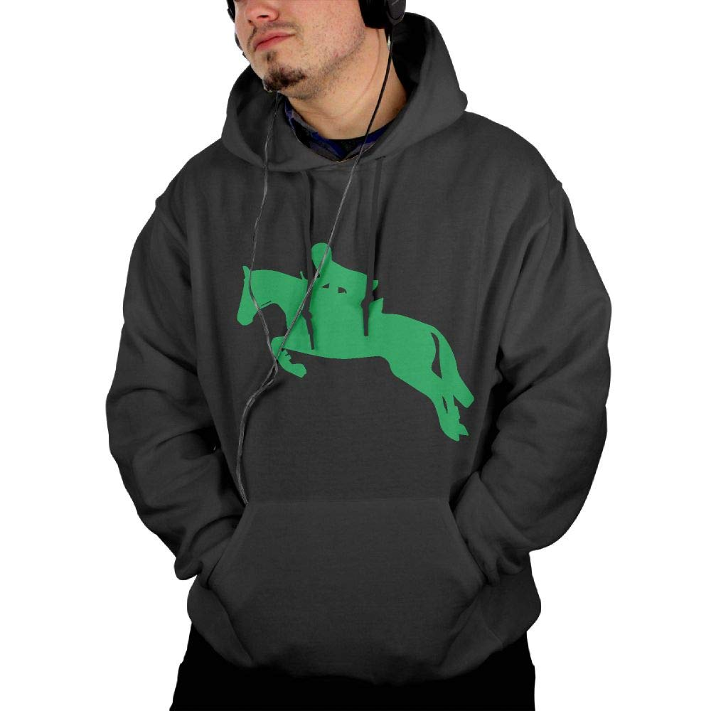 Athletic 100/% Cotton Fleece Hoodie with Pocket for Men Ou30IL@WY Men Horseback Riding Horse Pullover Hoodie