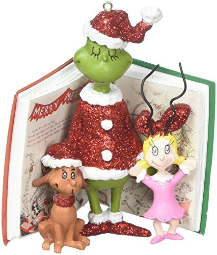 Department 56 Grinch, Cindy and Max Book Hanging Ornament, 4