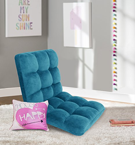 Iconic Home FRC2989-AN Daphne Lounge Adjustable Recliner Rocker Memory Foam Armless Floor Gaming Ergonomic Chair, Teal Review