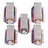 Yibuy 5Piece TFS-A21 Electric Lock Assembly Solenoid 12V Lock Tongue Upward for Drawer