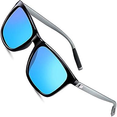 wearPro Sunglasses Mens Retro Vintage Polarized Sun Glasses WP1003 (blue, 2.16)